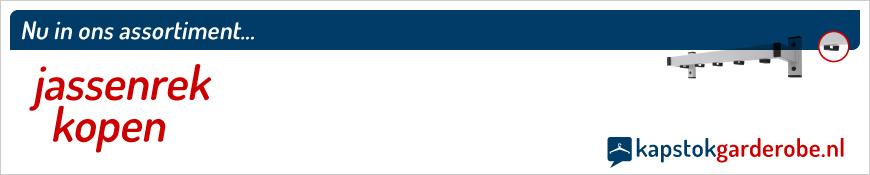 Een jassenrek kopen kan eenvoudig in de webshop van Kapstok-garderobe.nl. Gemakkelijk te monteren en eventueel te verplaatsen in uw entree zodat u geen last meer heeft van rondslingerende jassen, jacks, mantels en bodywarmers.
