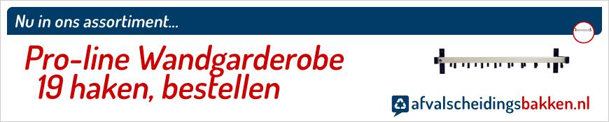 Pro-line Wandgarderobe 19 haken kopen