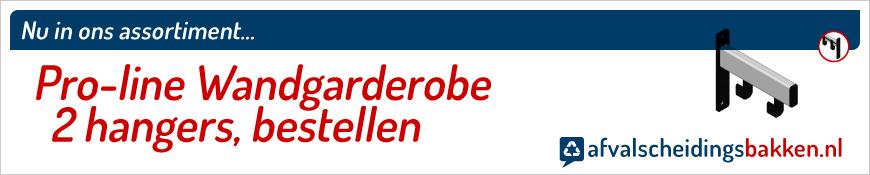 Pro-line Wandgarderobe 2 hangers kopen