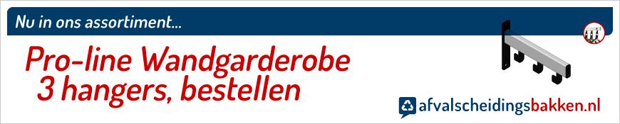 Pro-line Wandgarderobe 3 hangers kopen