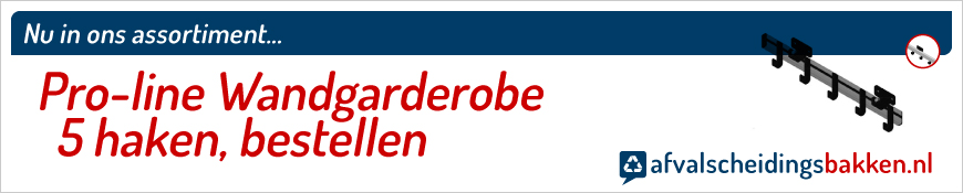 Pro-line Wandgarderobe 5 haken kopen